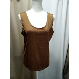 Size 2 (L) Chico's solid brown shell/ cami